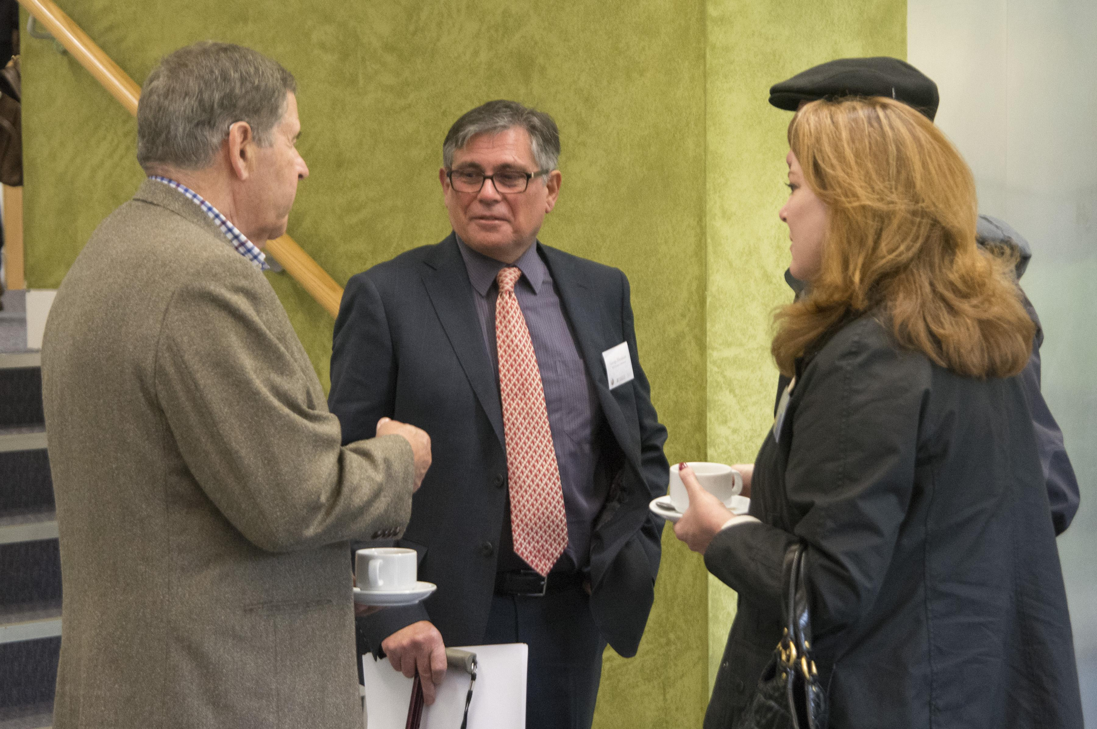 Rockell Hankin (Chairman of the Kavli Foundation Board of Directors), George Efstathiou and Lisa Hankin